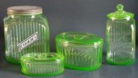 Anchor Hocking Green Kitchenware